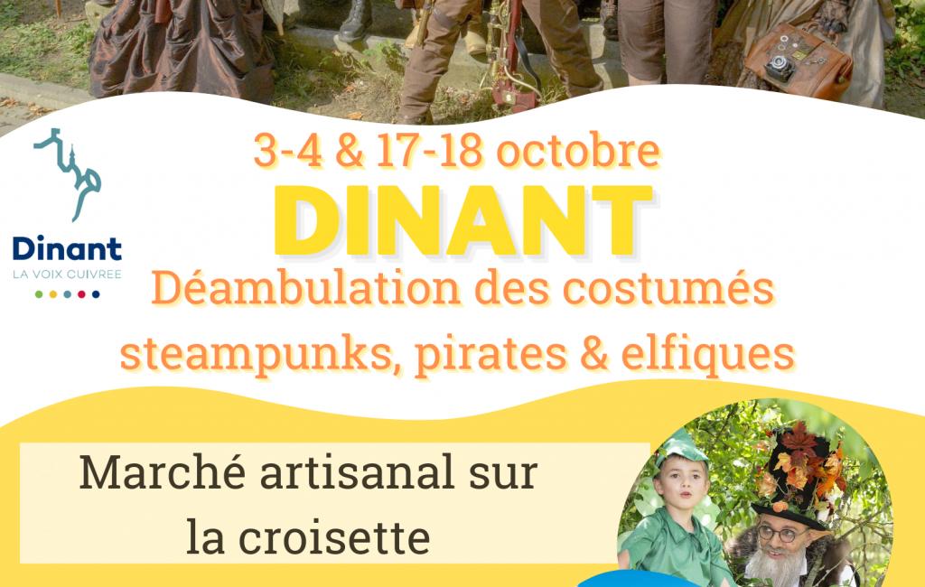 17-18 Octobre 2020 – Marché artisanal steampunk, pirate et elfique de Dinant